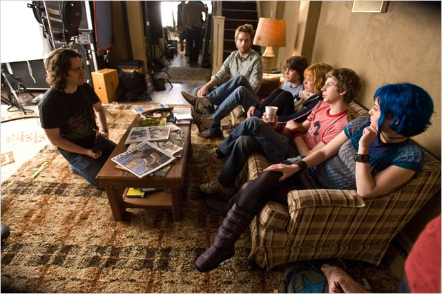 Scott Pilgrim : Photo Alison Pill, Edgar Wright, Johnny Simmons, Mark Webber, Mary Elizabeth Winstead