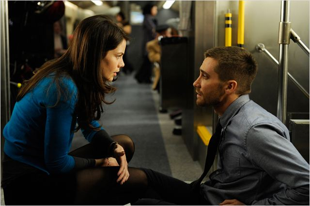 Source Code : photo Duncan Jones, Jake Gyllenhaal, Michelle Monaghan
