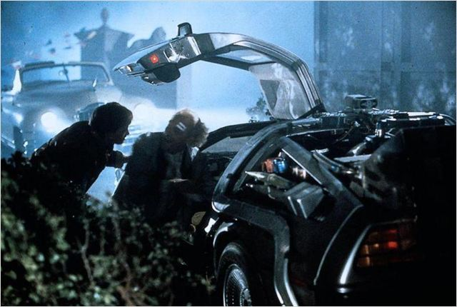 Retour vers le futur : photo Christopher Lloyd, Michael J. Fox, Robert Zemeckis