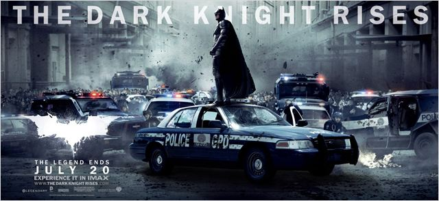 The Dark Knight Rises : Affiche Christian Bale, Christopher Nolan