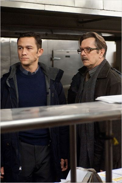 The Dark Knight Rises : Photo Christopher Nolan, Gary Oldman, Joseph Gordon-Levitt
