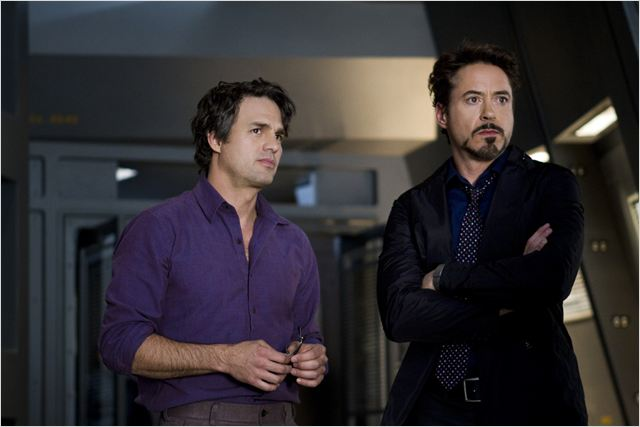 Avengers : Photo Joss Whedon, Mark Ruffalo, Robert Downey Jr.