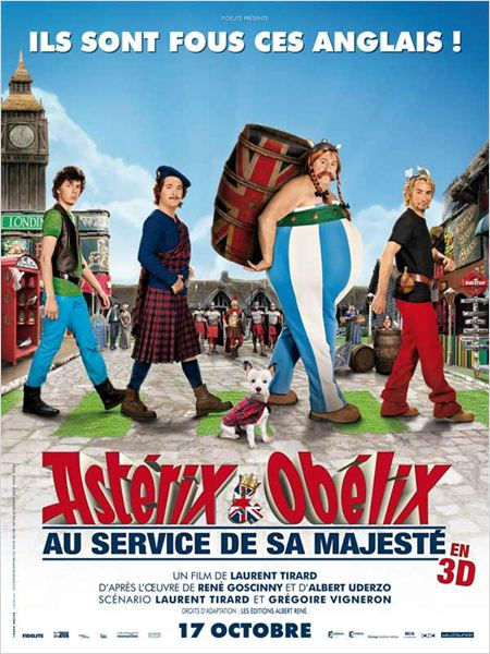 Ast&#233;rix et Ob&#233;lix : au service de Sa Majest&#233; : affiche