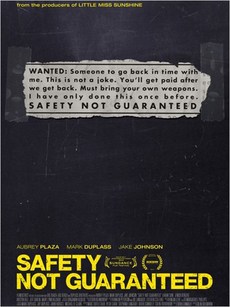Safety Not Guaranteed (2013) [VOSTFR] [DVDRiP 1CD]