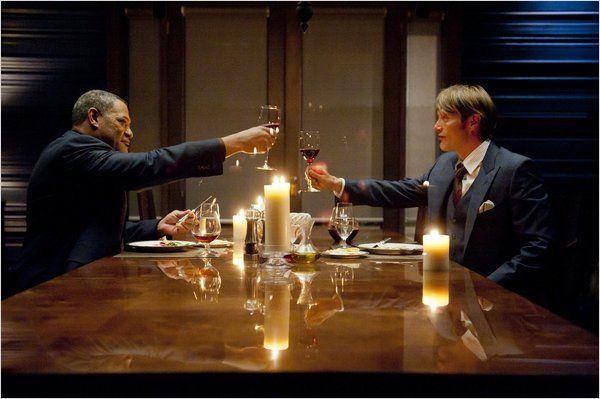 Hannibal : photo Laurence Fishburne, Mads Mikkelsen