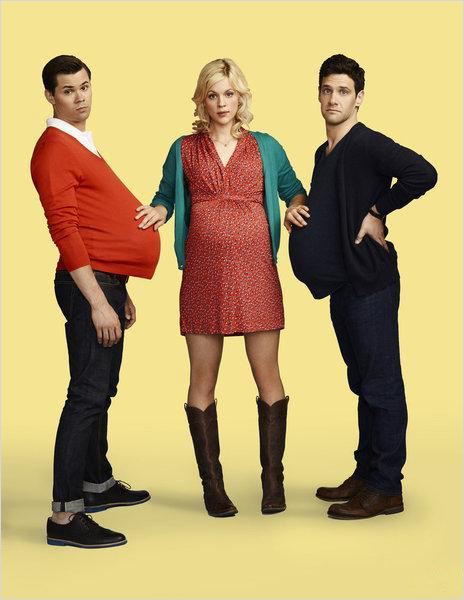 The New Normal : photo Andrew Rannells, Georgia King, Justin Bartha