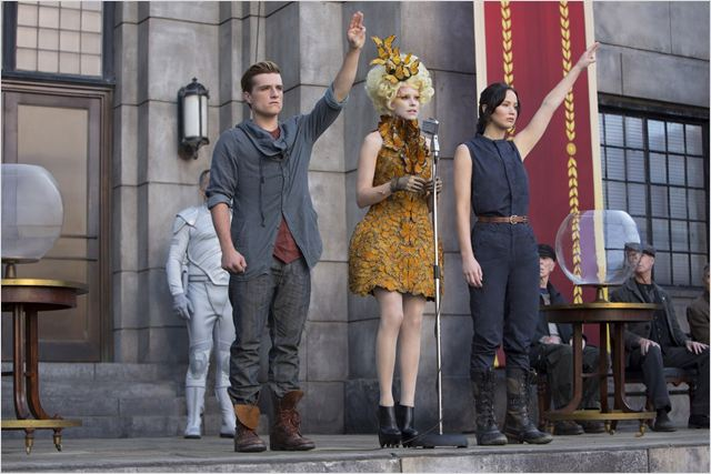 Hunger Games - L'embrasement : Photo Elizabeth Banks, Jennifer Lawrence, Josh Hutcherson