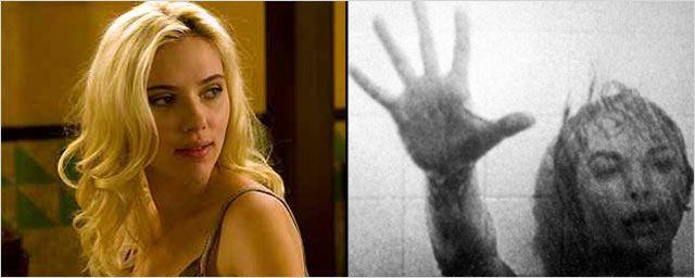 """Scarlett Johansson sous la douche... de """"Psychose"""" !"""