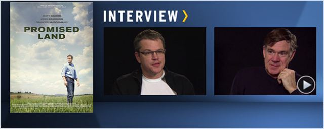 """Promised Land"" : Matt Damon et Gus Van Sant au micro ! [VIDEO]"