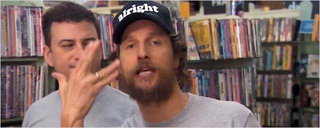 Matthew McConaughey et Jimmy Kimmel à la rescousse d'un vidéoclub
