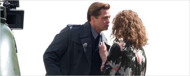 Allied : Brad Pitt et Lizzy Caplan s'embrassent sur le tournage du nouveau Zemeckis !