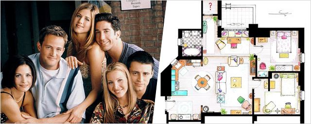 Friends, Les Simpson, The Big Bang Theory... Les plans d'appartements de vos séries cultes !