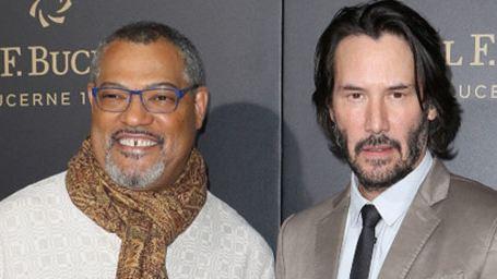 John Wick 2 :  Keanu Reeves et Laurence Fishburne réunis sur le tapis rouge
