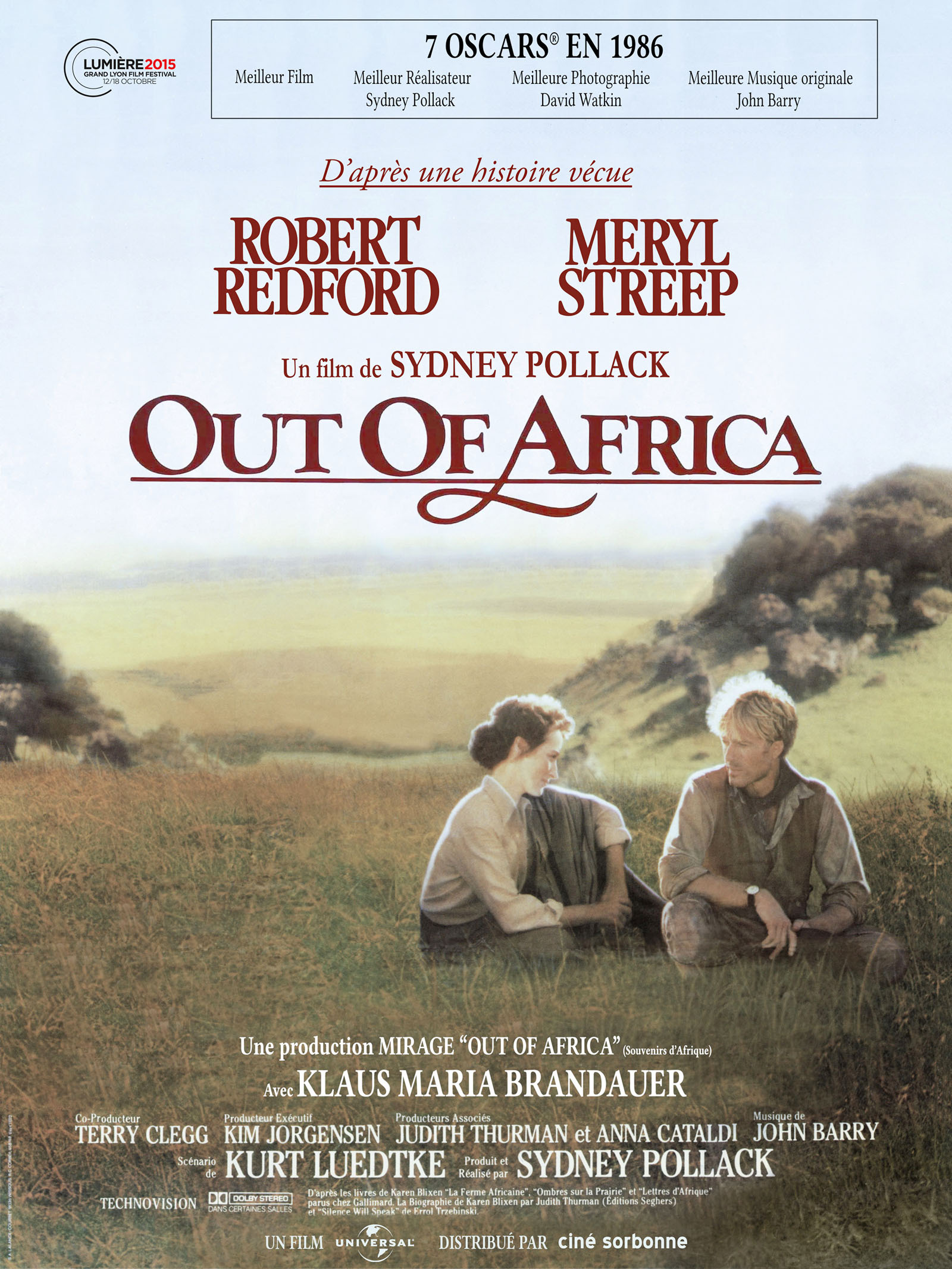 Out of Africa - Souvenirs d'Afrique en Blu Ray : Out of Africa - AlloCiné