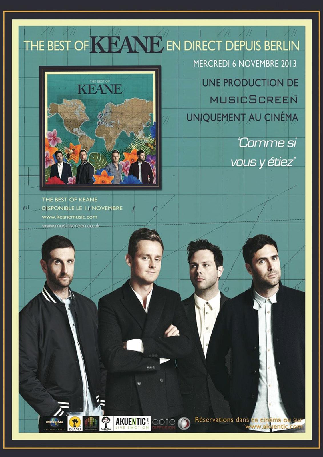Télécharger Concert de Keane (Côté Diffusion) DVDRIP VF