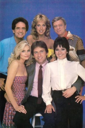 Three's Company : Photo Don Knotts, Jenilee Harrison, John Ritter, Joyce DeWitt, Priscilla Barnes