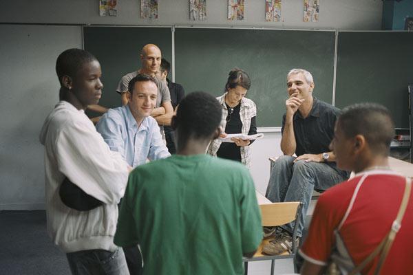 Entre les murs : Photo François Bégaudeau, Laurent Cantet