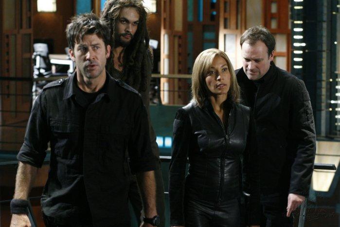 Stargate: Atlantis : Photo David Hewlett, Jason Momoa, Joe Flanigan, Rachel Luttrell
