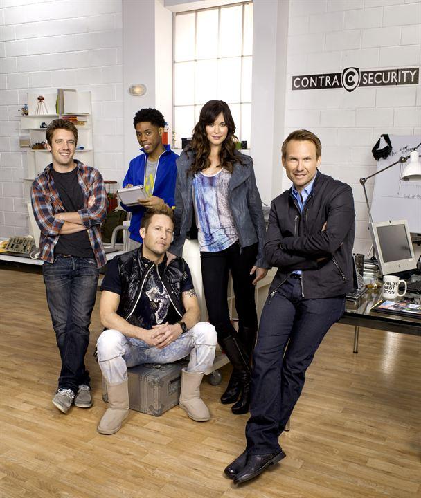 Breaking In : Photo Alphonso McAuley, Bret Harrison, Christian Slater, Michael Rosenbaum, Odette Annable