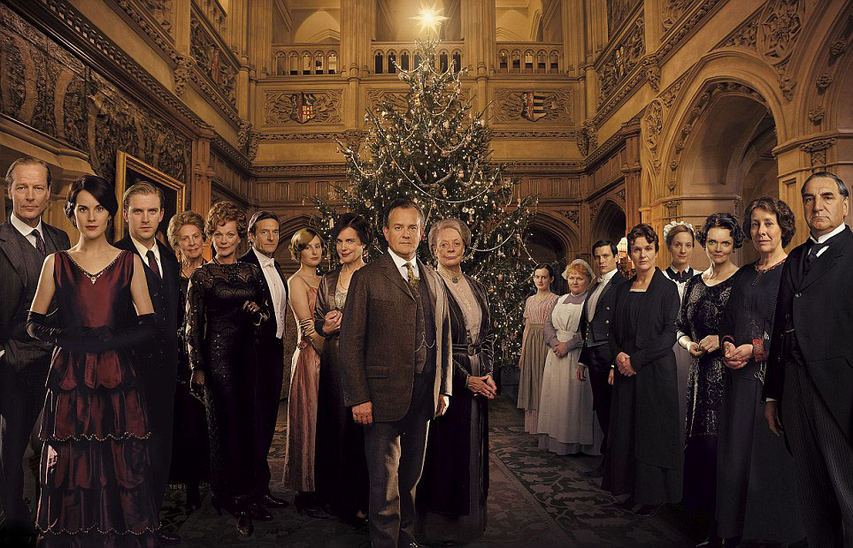 Photo Dan Stevens, Elizabeth McGovern, Hugh Bonneville, Iain Glen, Jim Carter