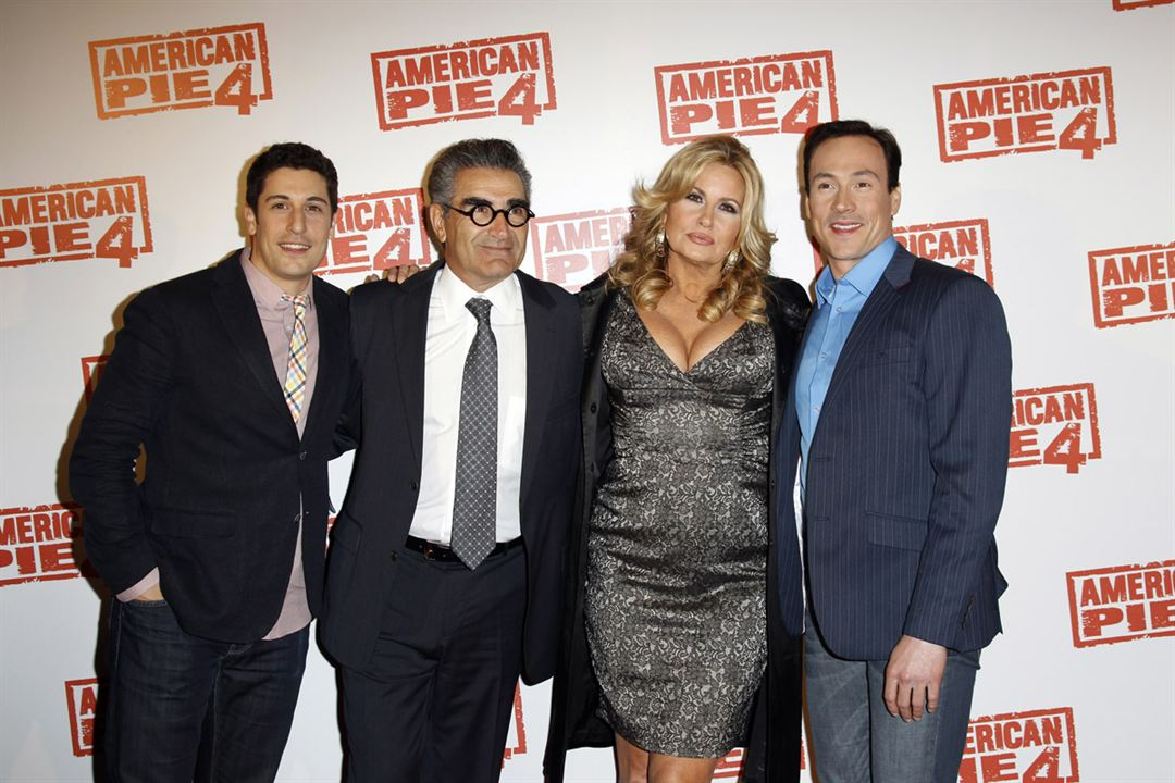 American Pie 4 : Photo promotionnelle Chris Klein, Eugene Levy, Hayden Schlossberg, Jason Biggs, Jennifer Coolidge