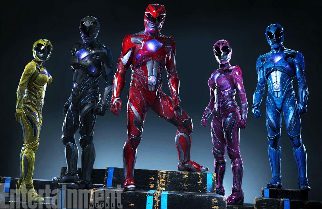 Les Power Rangers en costume