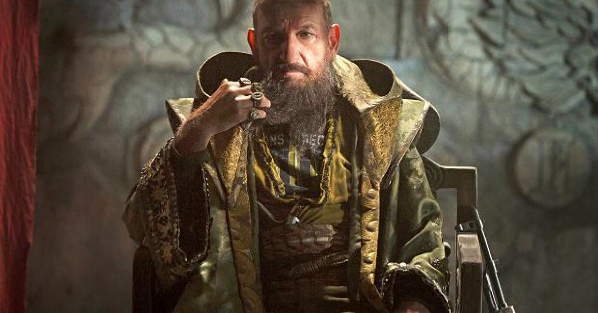 "Barbe et look de gourou pour Ben Kingsley alias ""Le Mandarin"", méchant de Iron Man 3"