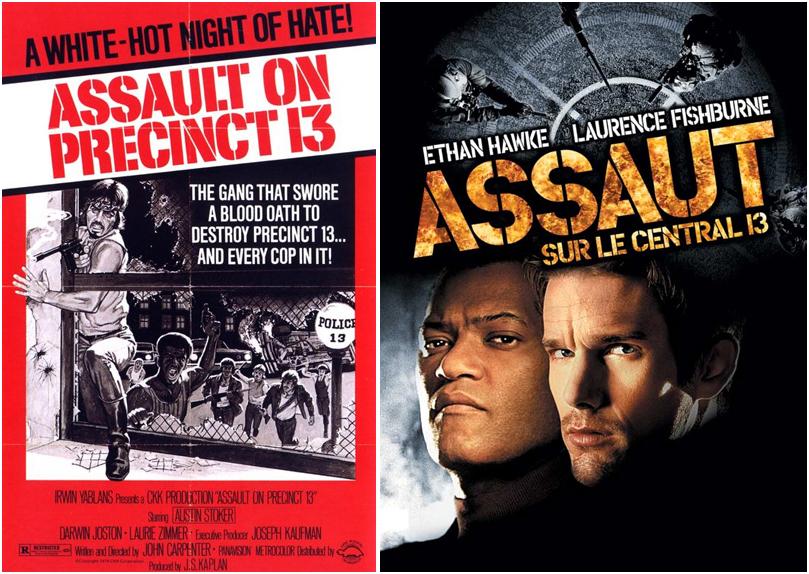 """Le film original """"Assaut"""" sorti en 1978, et son remake réalisé par le français Jean-François Richet."""