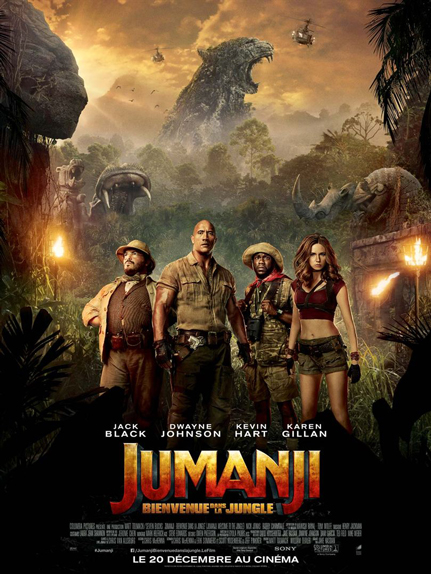 N° 1 - Jumanji Bienvenue dans la jungle : 285 508 entrées