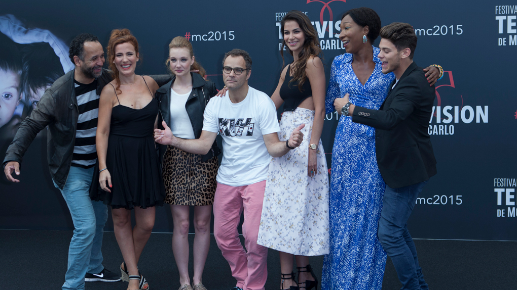 Avec l'équipe de la série Pep's au Fesitval de Monte-Carlo