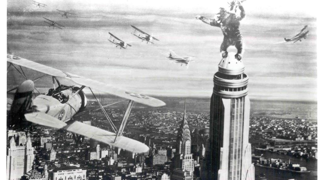 L'Empire State Building, vu dans le King Kong de 1933.