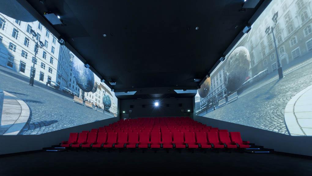 La salle ScreenX au Pathé La Villette