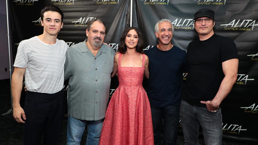 Keean Johnson, Jon Landau, Rosa Salazar, David Valdes et Robert Rodriguez au Comic-con