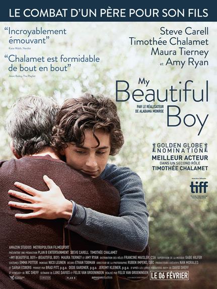 My beautiful boy avec Steve Carell, Timothée Chalamet...