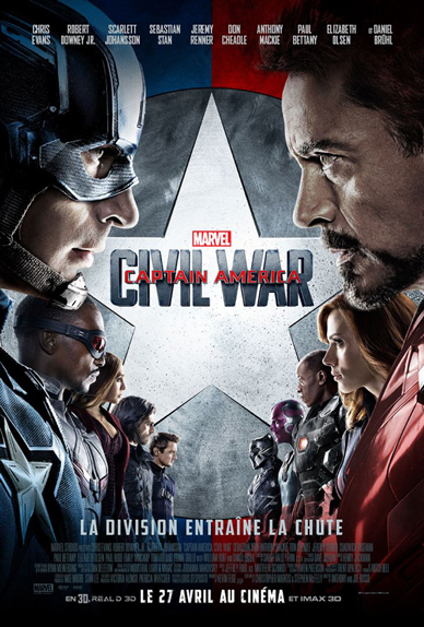 N°20 - Captain America Civil War : 1,153 milliard de dollars de recettes