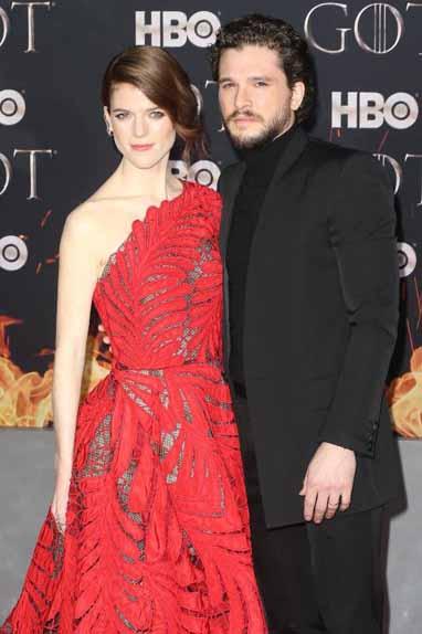 Rose Leslie (Ygritte) & Kit Harrington (Jon Snow)