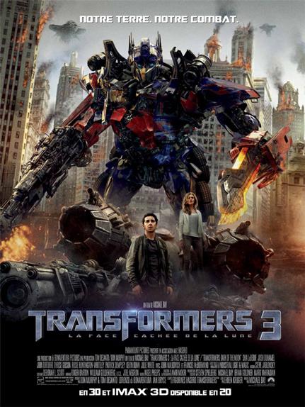 N°23 - Transformers 3 la face cachée de la Lune : 1,123 milliard de dollars de recettes