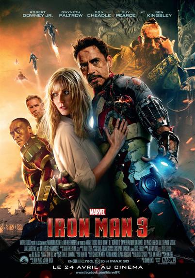 N°18 - Iron Man 3 : 1,214 milliard de dollars de recettes