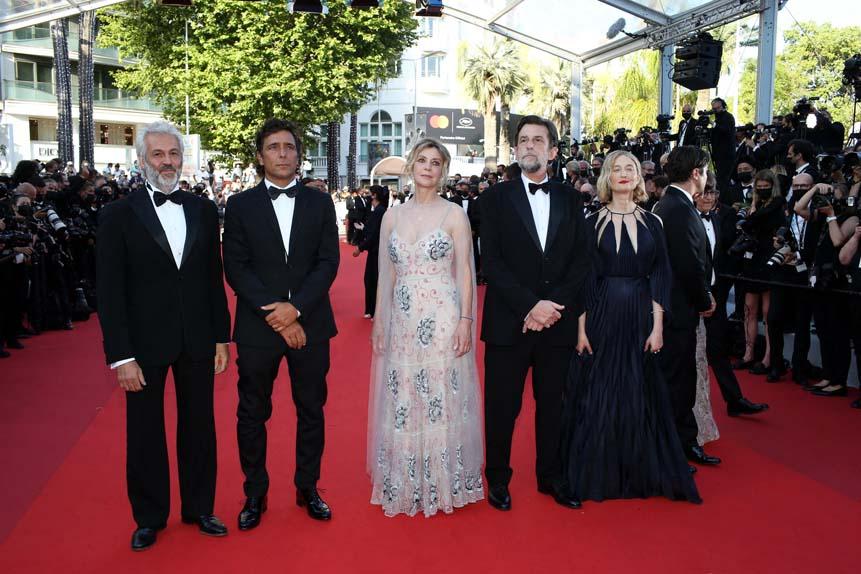 Domenico Procacci, Adriano Giannini, Margherita Buy, Nanni Moretti et Alba Rohrwacher