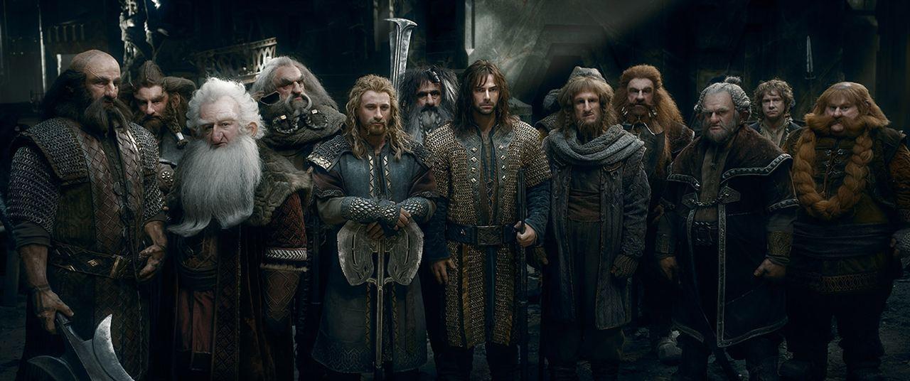 Le Hobbit : la Bataille des Cinq Armées : Photo Aidan Turner, Billy Connolly, Dean O'Gorman, Graham McTavish, Jed Brophy