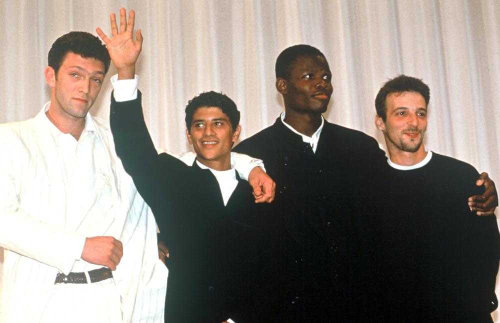 """Lors du Festival International du Film de Cannes en 1995 pour la présentation de """"La Haine""""."""
