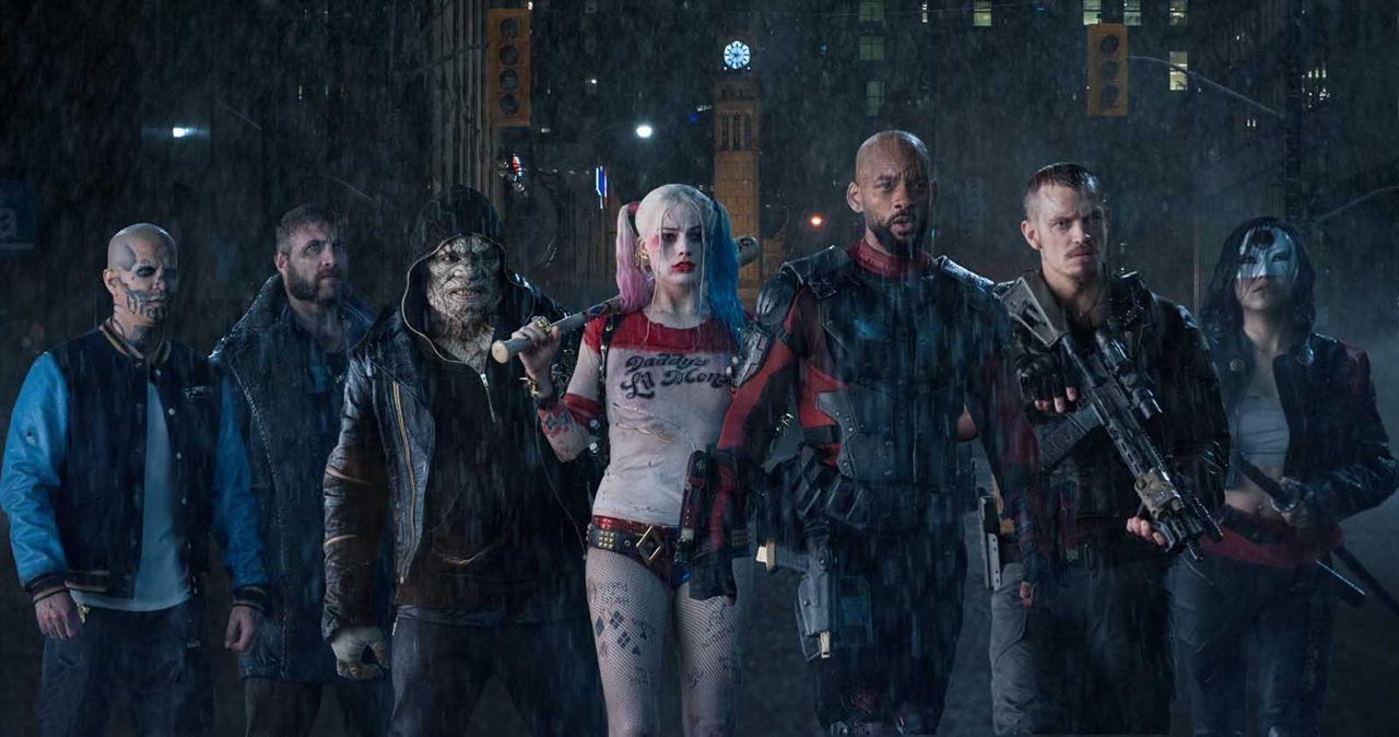 Suicide Squad: Adewale Akinnuoye-Agbaje, Will Smith, Margot Robbie, Jai Courtney, Joel Kinnaman, Jay Hernandez, Karen Fukuhara
