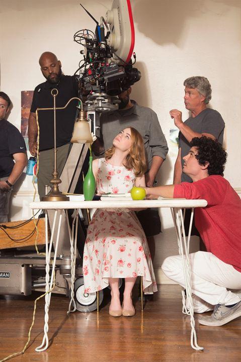 La La Land : Photo Damien Chazelle, Emma Stone