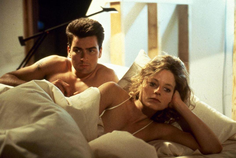 Backtrack : Photo Charlie Sheen, Jodie Foster