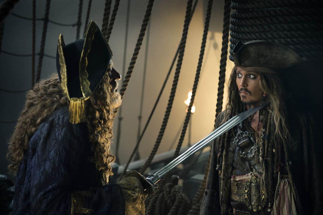 Pirates des Caraïbes : la Vengeance de Salazar : Photo Geoffrey Rush, Johnny Depp