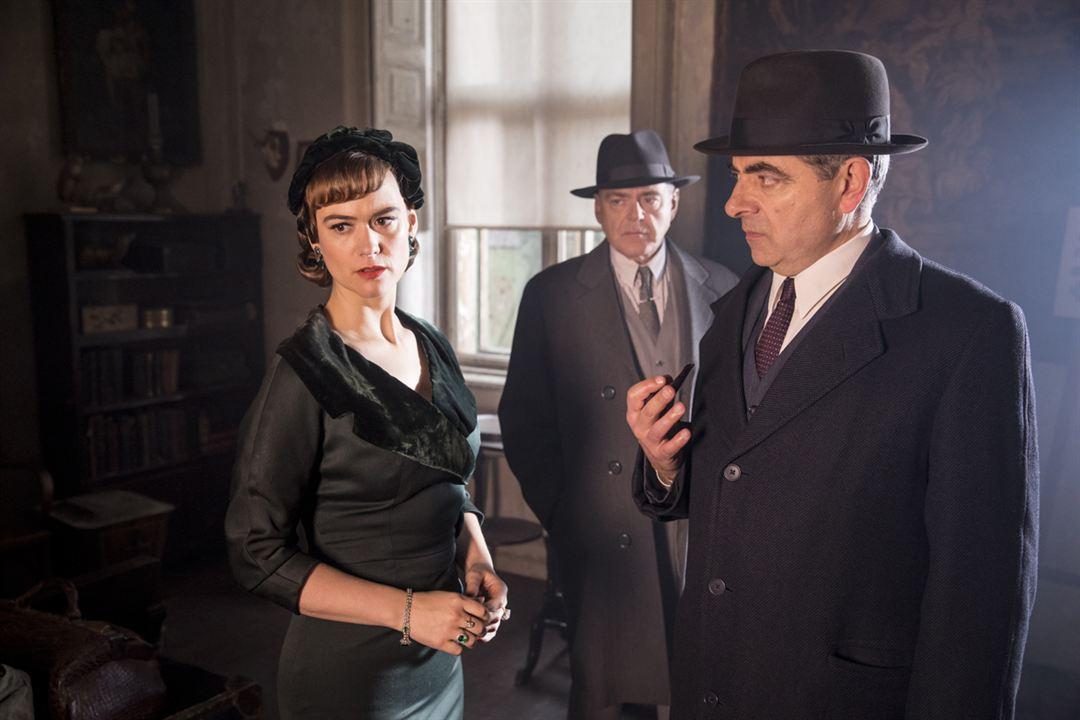 Photo Kevin McNally, Mia Jexen, Rowan Atkinson