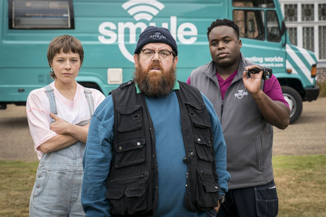 Photo Emma D'Arcy, Nick Frost, Samson Kayo
