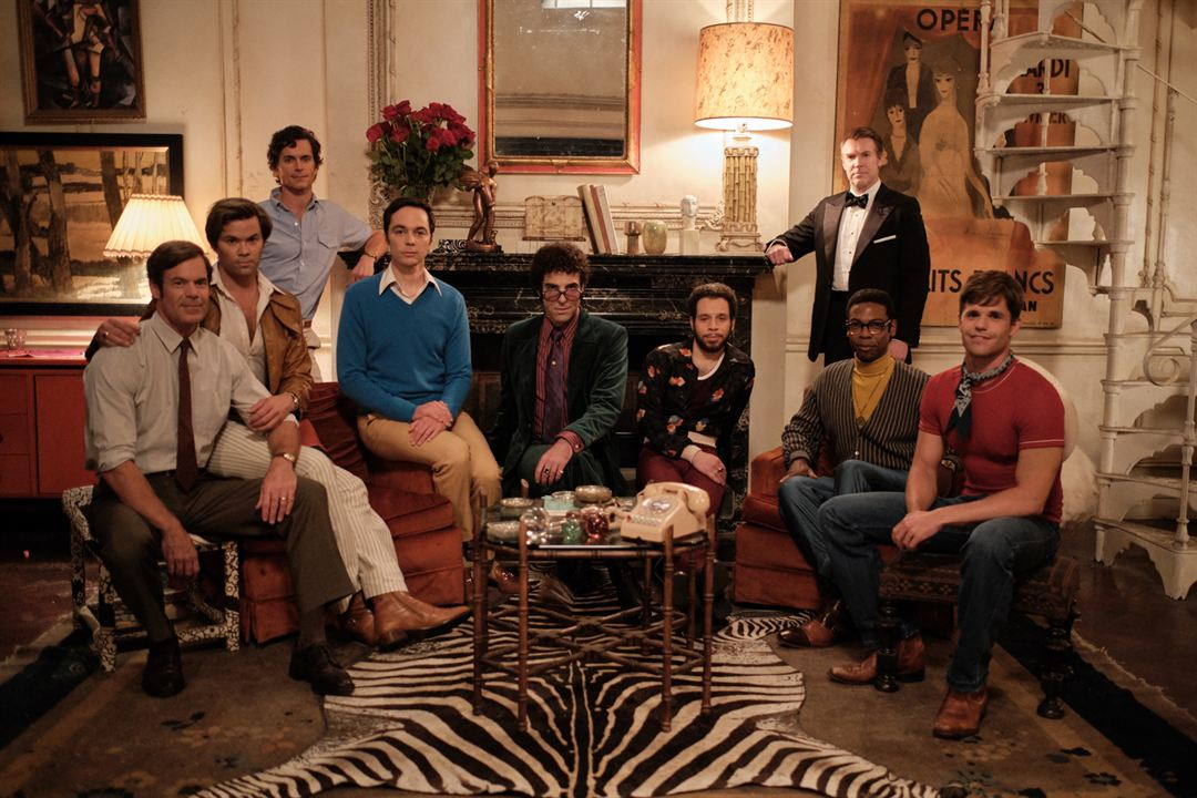 The Boys In The Band : Photo Andrew Rannells, Brian Hutchison, Charlie Carver, Jim Parsons, Matt Bomer