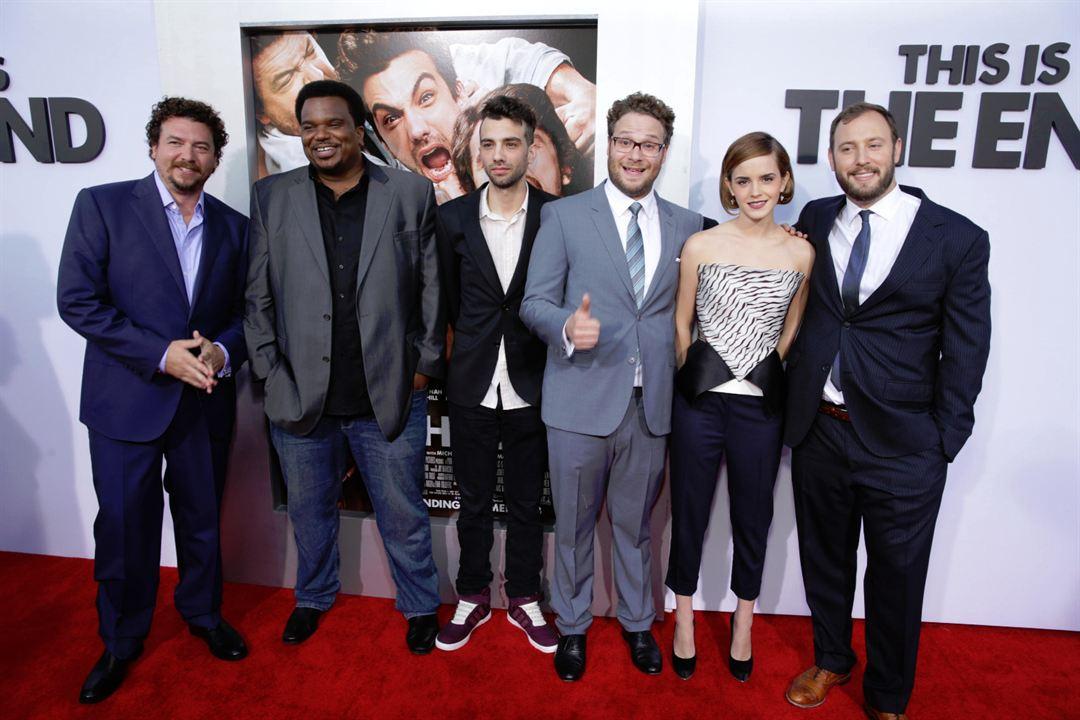 C'est la fin : Photo promotionnelle Craig Robinson, Danny McBride, Emma Watson, Evan Goldberg, Jay Baruchel